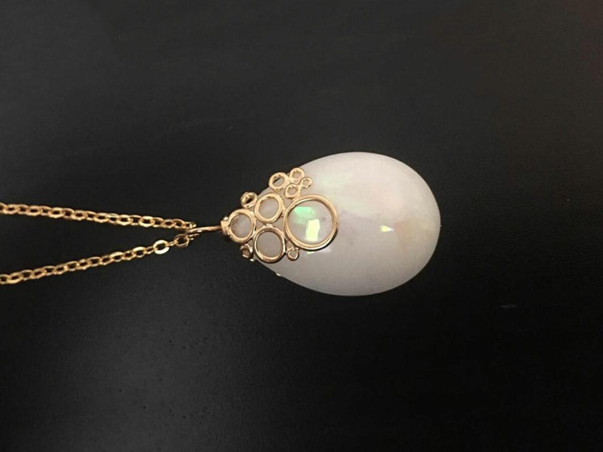 KeepsakeMom Breastmilk Jewelry Breastmilk Necklace, Effervescence, Yellow Gold