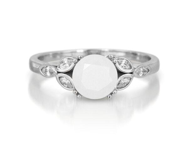 KeepsakeMom Breastmilk Jewelry Breastmilk Ring, Like A Diamond, White Gold