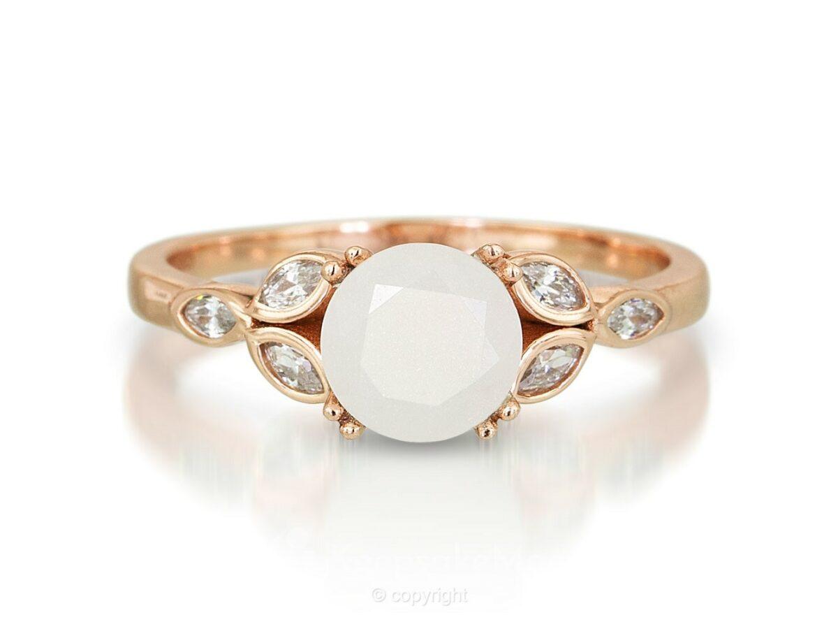 KeepsakeMom Breastmilk Jewelry Breastmilk Ring, Like A Diamond, Rose Gold, Profile 3