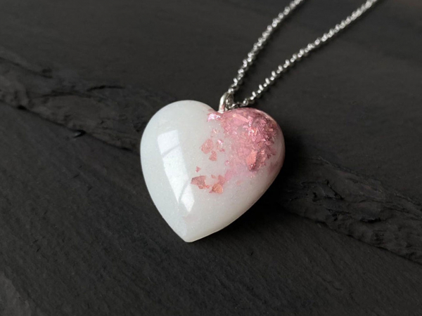 KeepsakeMom Breastmilk Jewelry Breastmilk Necklace, Baby Girl, Pink
