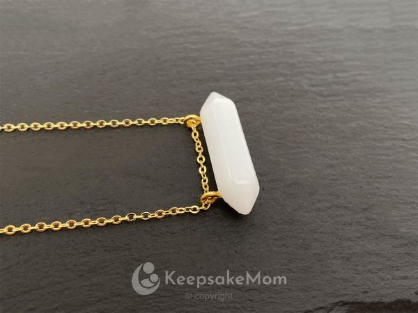 KeepsakeMom Breastmilk Jewelry Breastmilk Necklace, Frozen In Time, Gold