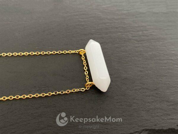 KeepsakeMom Breastmilk Jewelry Breastmilk Necklace, Frozen In Time, Gold