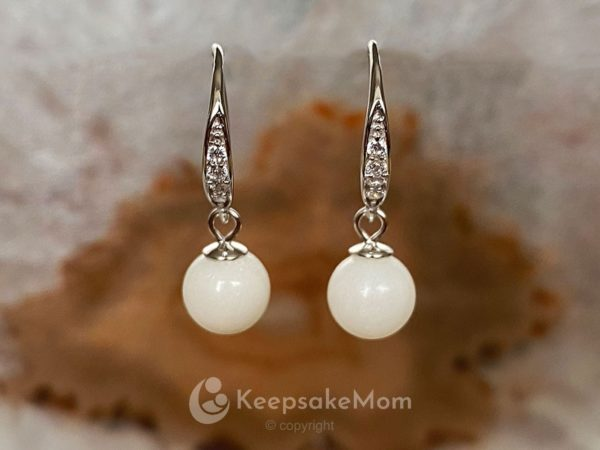 Breastmilk-Jewelry-Breastmilk-earrings-Pearl-Hooks-Sterling-Silver