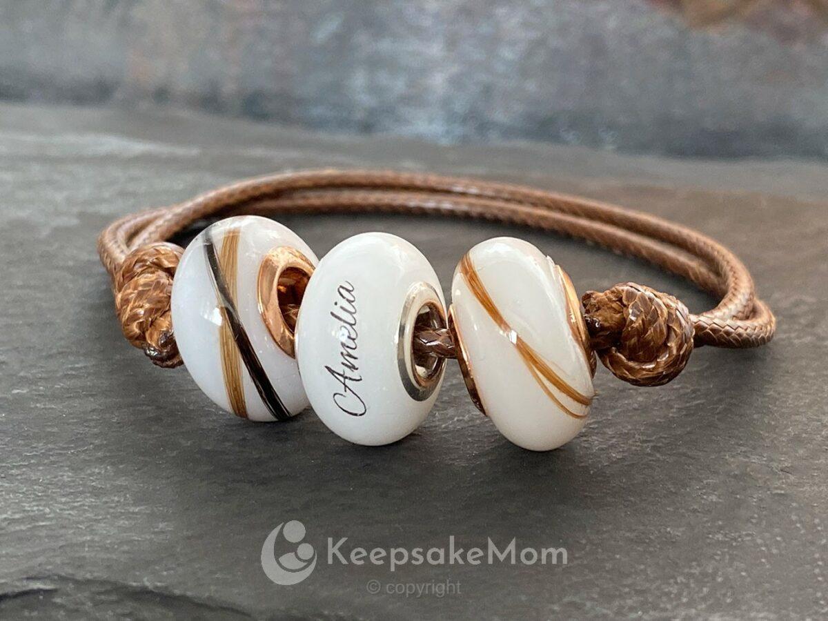 KeepsakeMom Breastmilk Jewelry Breastmilk Beads Bead Lock Of Hair