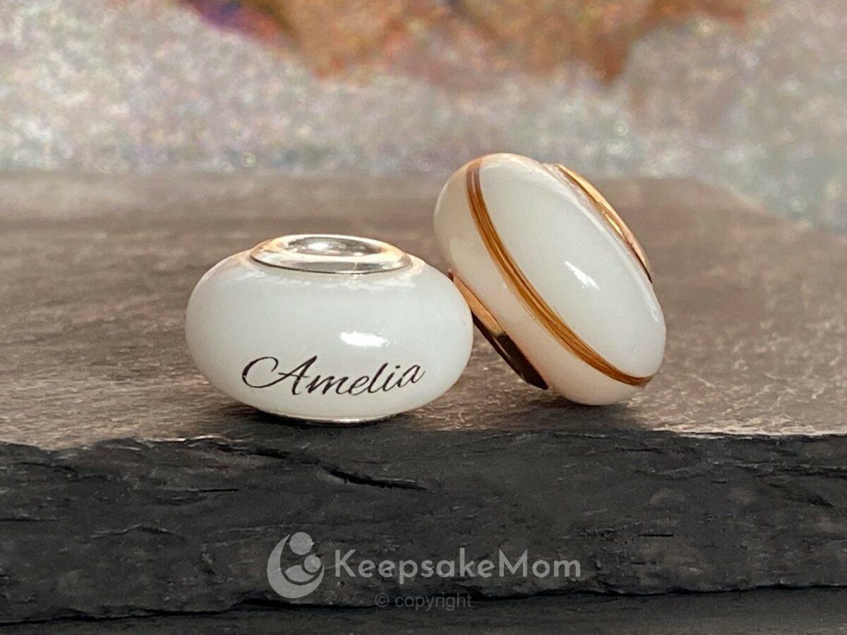 KeepsakeMom Breastmilk Jewelry Breastmilk Beads Hair Name