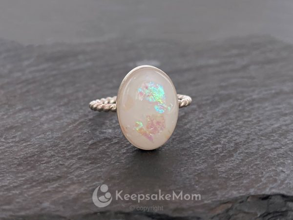 KeepsakeMom-Breastmilk-Jewelry-Breastmilk-Ring-Piece-of-Heaven-Rope-Band-Opal-Effect