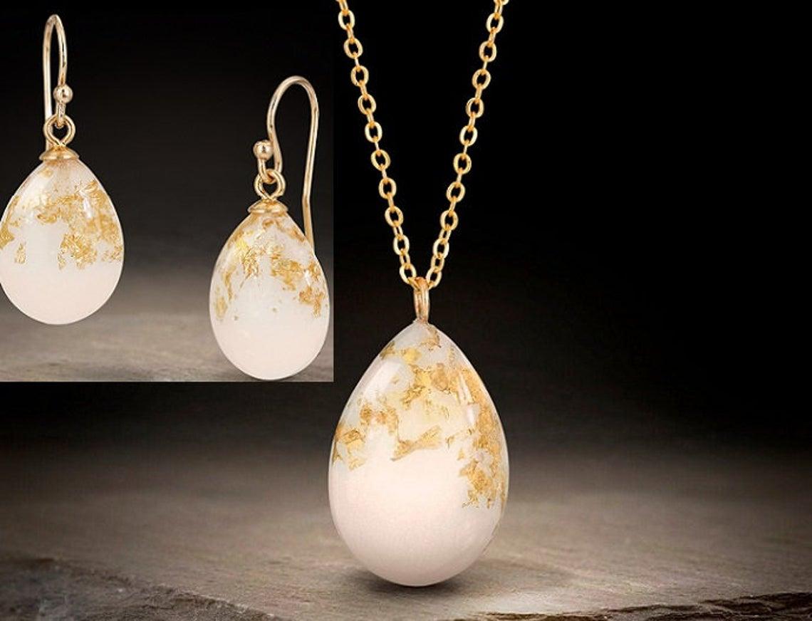 Breastmilk Jewelry Set Gold