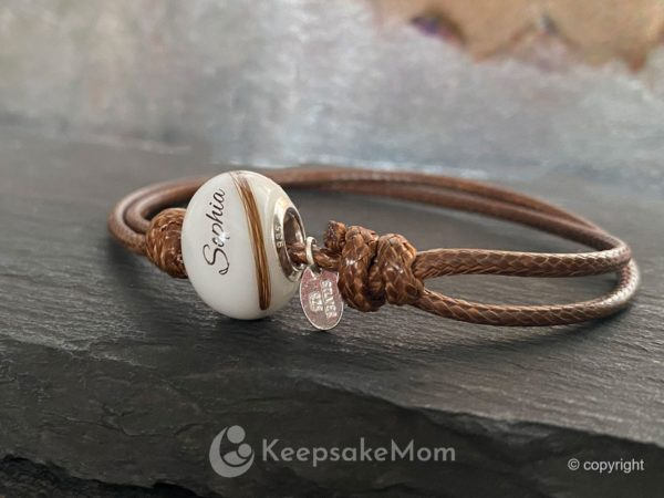 Breastmilk Jewelry Beads Name Hair One Chubby Bead