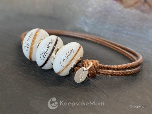 Breastmilk Jewelry Beads Names Hair Thin Beads Three