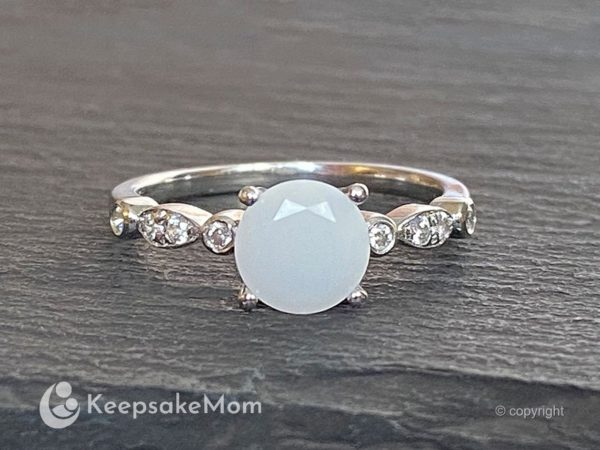 KeepsakeMom Breastmilk Jewelry Breastmilk Ring This Is Love White Gold Natural