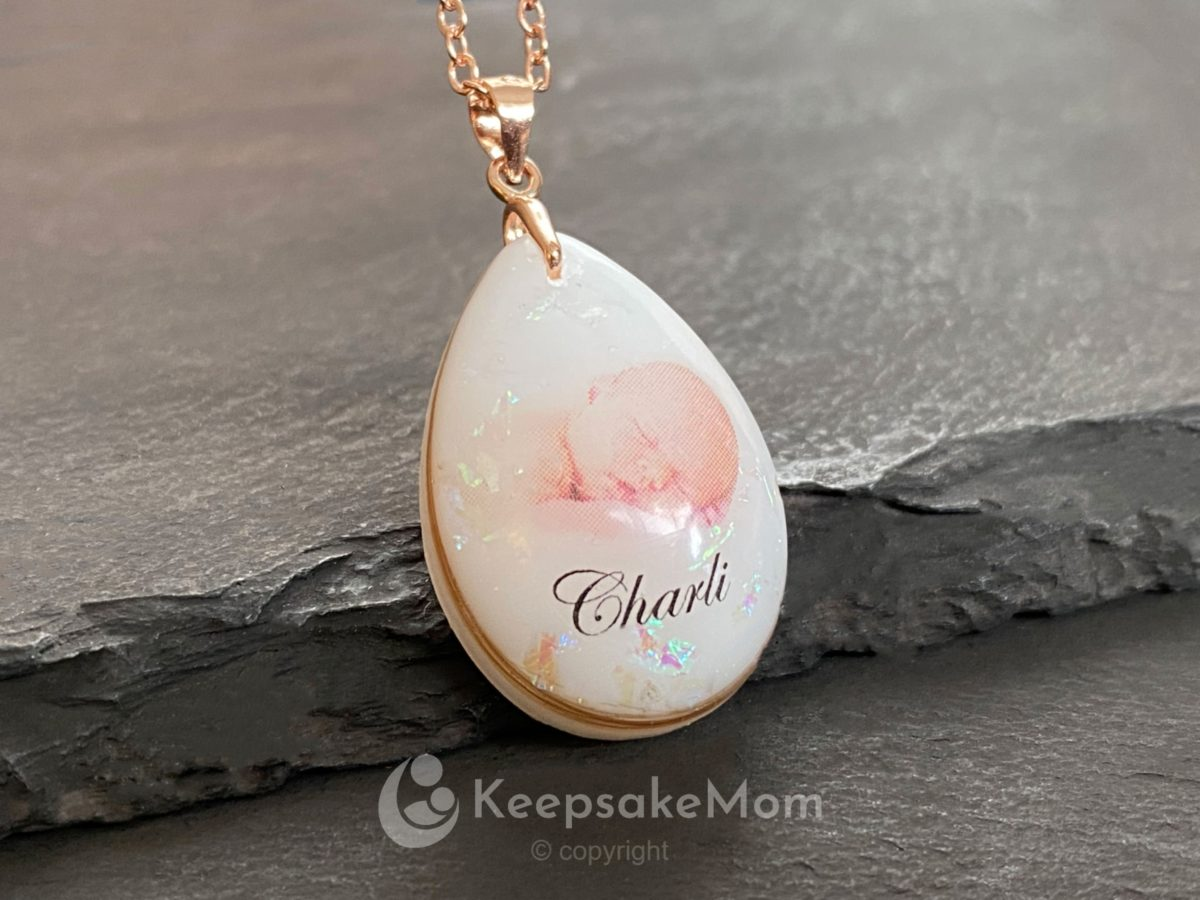 Breastmilk Necklace Your Baby Photo