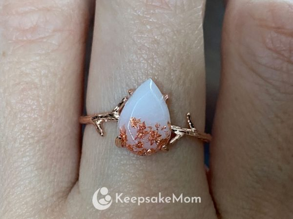 breastlink-branch-ring-rose-gold-flakes-plating