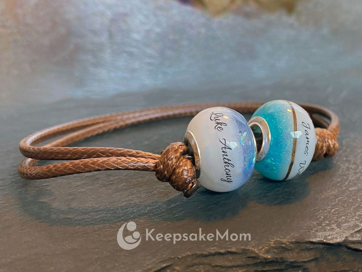 Breastmilk Two Beads Names Hair Birth Color
