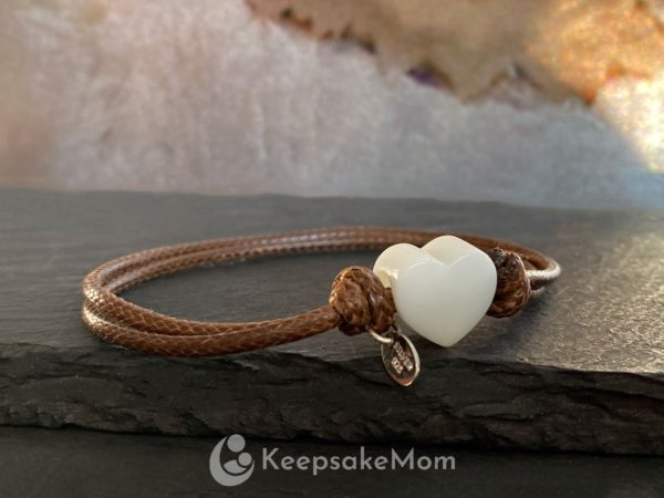 breastmilk-bracelet-heart-silver-brown-cord
