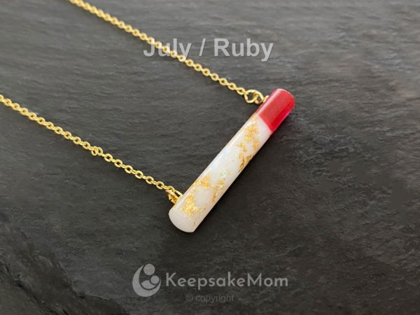 KeepsakeMom Breastmilk Jewelry Breastmilk Necklace Part Of Me Yellow Gold Birth Color (2)