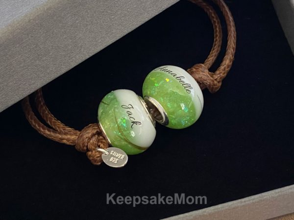 Breast Milk Bracelet Beads August Peridot Birth Month Names