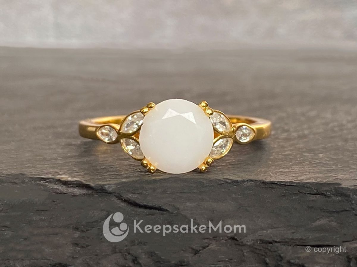 Breast Milk Ring Gold Plated