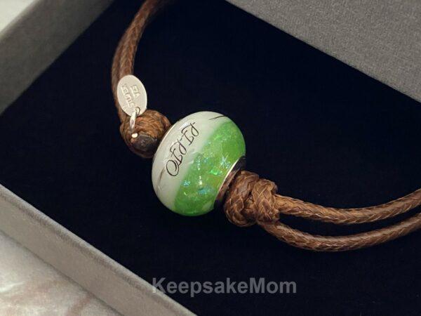 breastmilk-bead-bracelet-august-peridot-hair-name