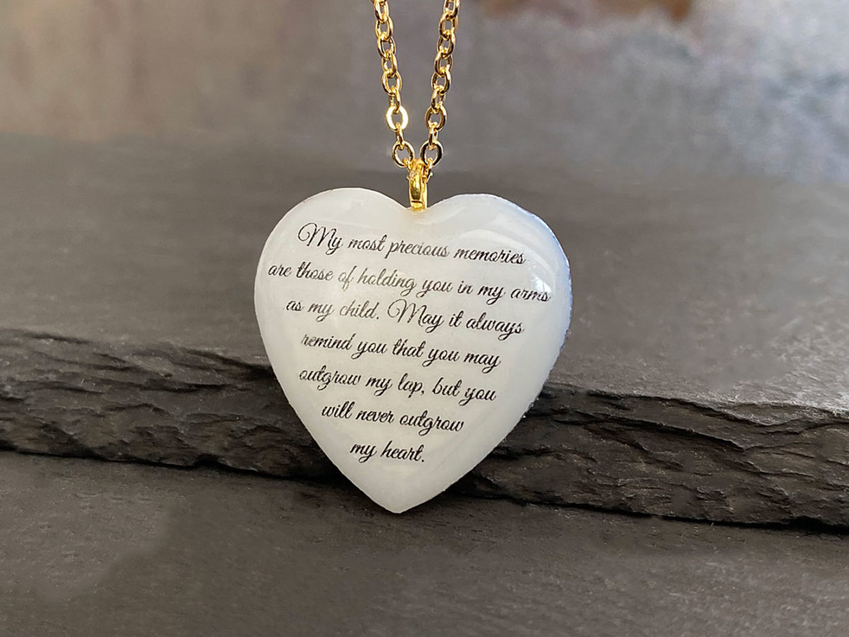Breastmilk Necklace Back Text